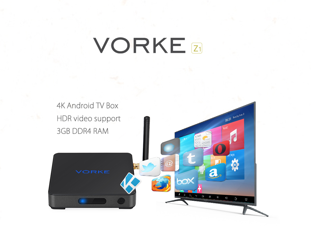 Tv Box Android Vorke Z1